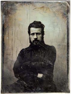 Gustave Le Gray. Auguste Clésinger, sculpteur 1848. Remerciement Serge Plantureux