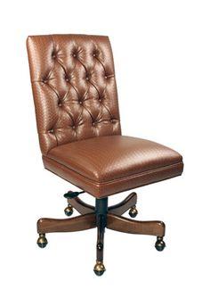Antique Vintage Arts Crafts Style Oak Armchair Desk Chair Leather