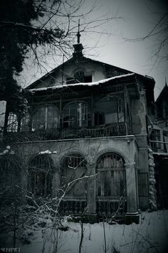 Abandoned villa. Konstancin Jeziorna, Warsaw, Poland.