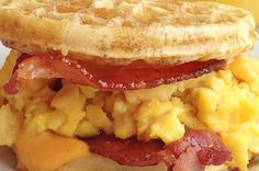 Bacon, Egg, And Cheese Eggo Waffle Sandwich
