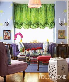Bohemian Chic Living Room | House & Home // that coffee table with books