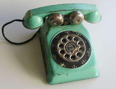 N.N. Hill Brass Co. tin toy phone  circa 1950s