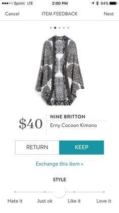 I've always been interested in kimonos. This one is gorgeous!