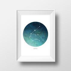 Aquarius Constellation Print by HowlDesignMke on Etsy https://www.etsy.com/listing/259754300/aquarius-constellation-print