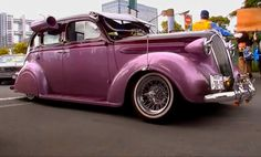 Fashionable pink car