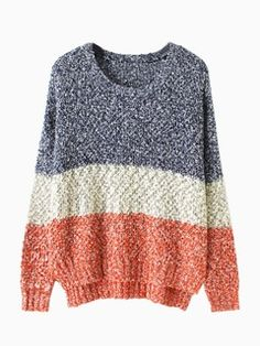 Shop Multi Stripe Slough Jumper from choies.com .Free shipping Worldwide.