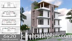 Apartment Plans with 18 UnitsThe House has:-Car Parking and garden-Living room,-Dining Bedrooms units Bed units Duplex House Design, Simple House Design, House Layout Plans, House Layouts, Small Apartment Plans, Apartment Ideas, Two Storey House Plans, Small Modern House Plans, Three Story House