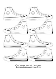Pete the Cat activities: FREE Converse shoe template by Tuck3rd on ...