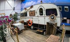 basecamp bonn young hostel indoor campground hostel hosts vintage RVs as rooms in germany - designboom Vintage Campers, Trailers Vintage, Vintage Rv, Vintage Travel, Vintage Style, Indoor Camping, Camping Car, Camping Indoors, Campsite