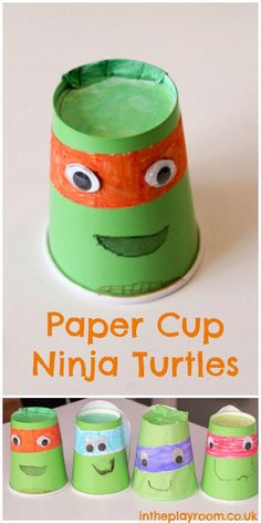 Paper cup teenage mutant ninja turtles kids craft