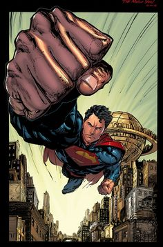 Superman art by Mario Gully colors by K-Bol Marvel Comics, Arte Dc Comics, Marvel Dc, Cosmic Comics, Cultura Nerd, Univers Dc, Superman Man Of Steel, Famous Cartoons, Batman
