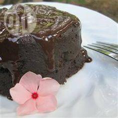 Mug cake au chocolat et caramel au beurre salé @ allrecipes.fr