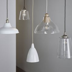 Small Tapered Gl Pendant Ceiling Light Lights Home Accessories The