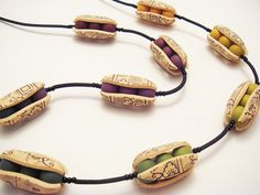 Polymer Clay Necklace by Carinas Photos and Polymer Clay, via Flickr