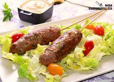 Kebab de ternera con especias y mahonesa picante