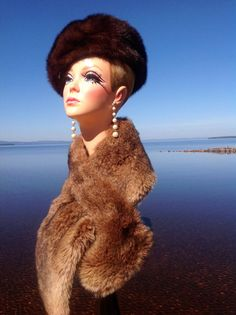 SALE  Twiggy Mannequin Head Sculpture Bust Pinup by DarlinDesign