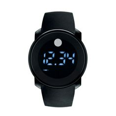 Movado BOLD Black Touch Dual-Time Digital Watch