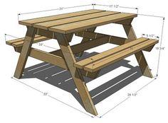 Plan d'une table de pic-nic pour enfants | Ana White