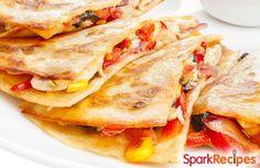 Southwestern Quesadillas Recipe via @SparkPeople
