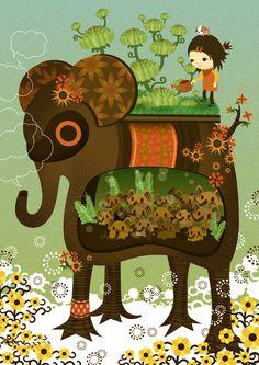 Elephant Garden by ?