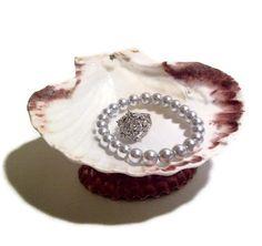 Sea shell jewelry dish jewelry storage ring dish by ALCcraft, $9.99