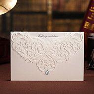 Hochzeitseinladung Blumenausschnitt mit Strass -s... – EUR € 24.99