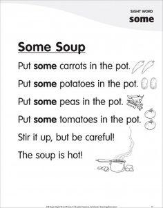 Some Soup (Sight Word 'some'): Super Sight Words Poem