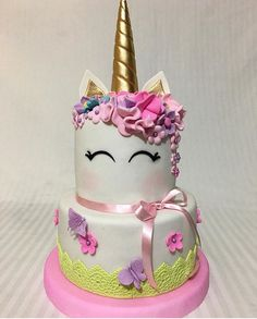 Unicorn Birthday Parties, Unicorn Party, Girly Birthday Cakes, Pretty Cakes, Cute Cakes, Unicorn Foods, Unicorn Cakes, Little Pony Cake, Girly Cakes
