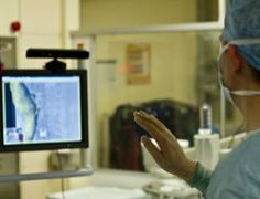 Xbox Kinect used during surgery so surgeons don't have to scrub in and out.
