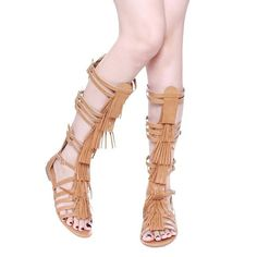 Would you rock this awesome pair of #gladiator sandals this #summer?  For just $26 we would! #shoestagram #shoes #WishApp