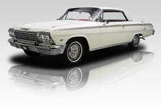 1962 Chevrolet Impala Super Sport, white exterior ... showroom perfect! I want another one just like this one!