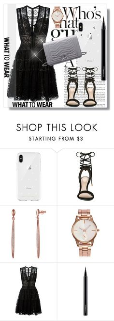 """""""Flared dress"""" by dianagrigoryan ❤ liked on Polyvore featuring Rebecca Minkoff, ALDO, Elie Saab and MAC Cosmetics"""