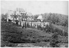 NJ, Peapack - Blairsden, circa 1903. A New Jersey estate named after its original owner C. Ledyard Blair ( 1867- 1949), a prominent investment banker and ambitious entrepreneur who recognized the beauty of the beautiful Somerset Hills area and decided to build one of the largest estates ever built in the region.