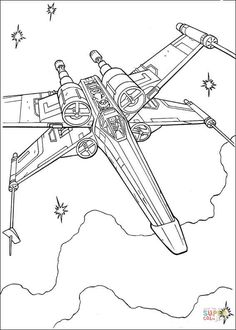 x wing fighter of luke skywalker coloring page hellokids fantastic collection of star wars coloring pages has lots of coloring pages to print out or