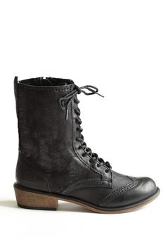 Distressed Paxton Lace-Up Boots 68.00 at threadsence.com