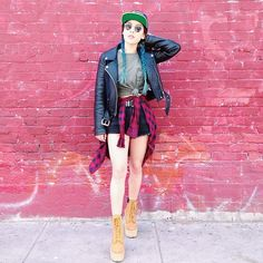 Leather jacket + grunge shirt | soothingsista @ instagram