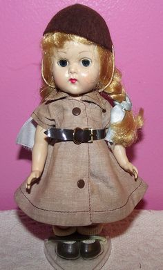 "Gorgeous vintage walker ""Ginny"" vogue doll in original brownie outfit circa 1950"