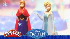 New play-doh playset! Create your own Disney Frozen Snow Dome and play doh ice casle with this amazing Play-Doh set! Elsa Olaf, Elsa Anna, Rainbow Toys, Frozen Snow Queen, Prince Hans, Frozen Dolls, Disney Princess Cinderella, Queen Elsa, Play Doh