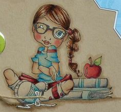 Coloring with Copic / Tutorial Coloring on Kraft by Copic Marker Europe