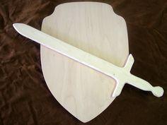 Wooden Sword and Shield Set. $20.00, via Etsy.