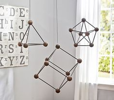 Numeracy / geometry : Hanging Geo Objects