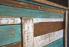 Reserved for TERILYN  Shabby Chic Reclaimed King Bed Set.  Rustic Headboard, Foot Board, and rails.