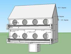 Martin Bird House Plans with videoDyi