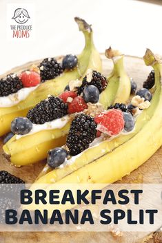 Breakfast Banana Split Blueberry Breakfast, Breakfast Time, Breakfast Recipes, Breakfast Ideas, Great Desserts, Dessert Recipes, Original Banana, Easy Healthy Recipes, Healthy Eats