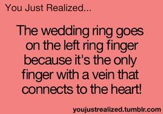 Awwww ❤️❤️that's why Ima start wearing a ring on my left ring finger when I'm with him Wow Facts, Wtf Fun Facts, Cute Quotes, Funny Quotes, Funny Memes, Teenager Quotes, Teenager Posts, Funny Teen Posts, You Just Realized