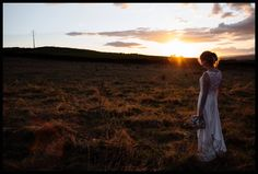 Bride at sunset in  Yorkshire by Toast Photography