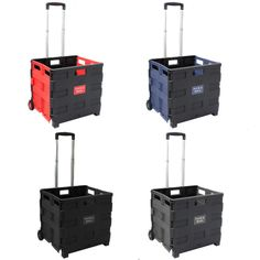 Enterprises Pack and Roll Lightweight Folding Shopping/ Utility Cart