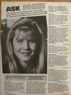 Josie Davis, Full Page Vintage Clipping