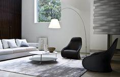 Bergere swivel armchair DERBY by Zanotta design Noé Duchaufour-Lawrance Cool Furniture, Furniture Design, Wicker Furniture, Derby, Italian Furniture Brands, Best Interior Design, Modern Room, Decoration, Home And Living