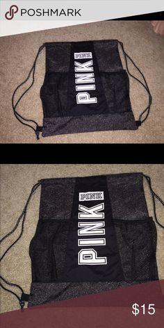 Pink Victoria's Secret draw string back pack nwt Brand new with tags Victoria's Secret pink backpack black with tags PINK Victoria's Secret Bags Backpacks